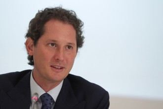 Fiat Chairman John Elkann speaks at a press conference at the end of Fiat's last shareholders general assembly at Lingotto in Turin, on August 1, 2014. Shareholders in Italian carmaker Fiat gave the green light on Friday to change the group's name to Fiat Chrysler Automobiles, consecrating its merger with US automobile group Chrysler.  AFP PHOTO / MARCO BERTORELLO        (Photo credit should read MARCO BERTORELLO/AFP/Getty Images)