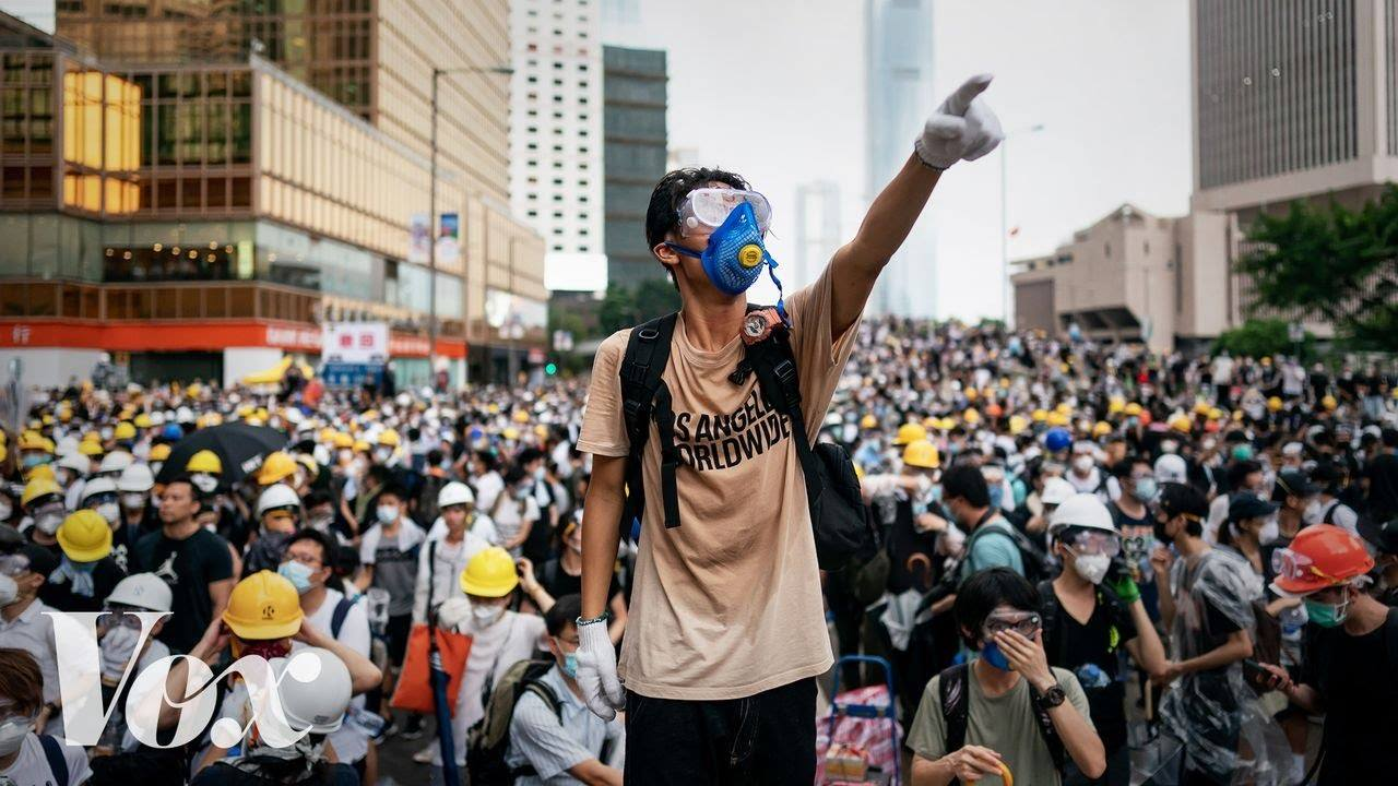 A protestor on the streets of Admiralty outside the government headquarters in June. Taken from CNN, June 15th, 2019