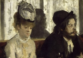 Dans un café — also referred to as L'Absinthe — Edgar Degas, 1875-1876 in Paris, Musée d'Orsay.