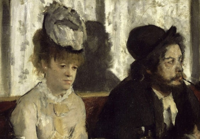 Dans un café — also referred to as L'Absinthe — Edgar Degas, 1875-1876 in Paris, Musée d'Orsay.