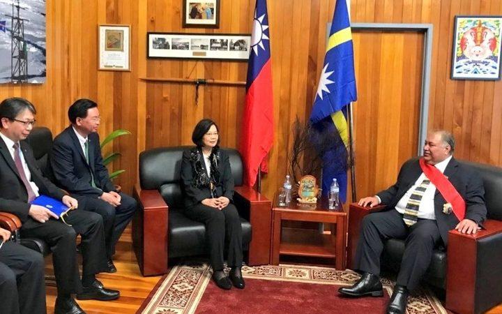 Ricevimento dell'allora presidente di Nauru Baron Waqa da parte della presidentessa di Taiwan Tsai Ing-Wen