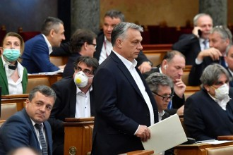 "Viktor Orbán successfully passes his ""Bill on Protection Against Coronavirus"" // (c)Foreign Policy"