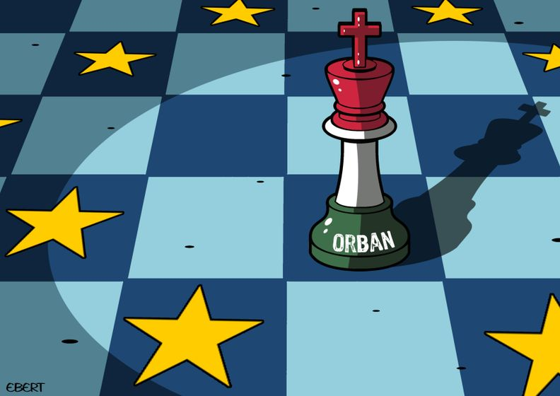 Orbán's latest move is only really a checkmate if the game wasn't already over five turns ago. (https://www.cartoonmovement.com/cartoon/65593)